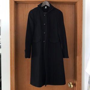 Jcrew Black Lady Day Coat